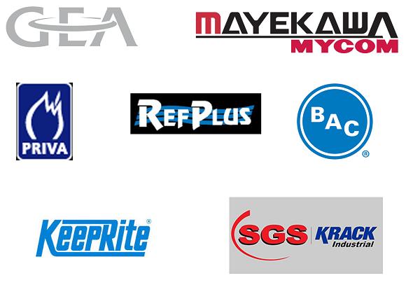 Logos of HECO vendors including GEA, BAC, KeepRite, and more.