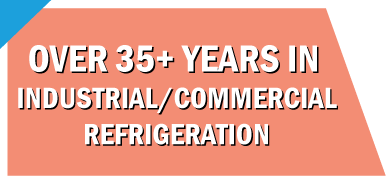 Text: Over 35+ years in industrial / commercial refrigeration