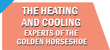 Text: The heating and cooling experts of the Golden Horseshoe